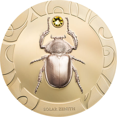 2017 Cook Islands 3 X 1 Ounce Scarab Beetle Selection III Solar Zenith Silver Proof Coin