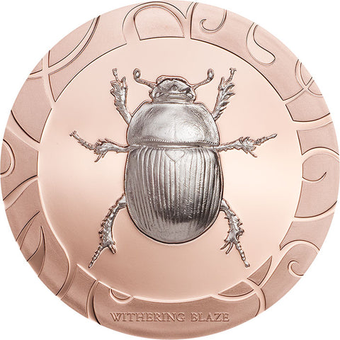 2017 Cook Islands 3 X 1 Ounce Scarab Beetle Selection III Withering Blaze Silver Proof Coin