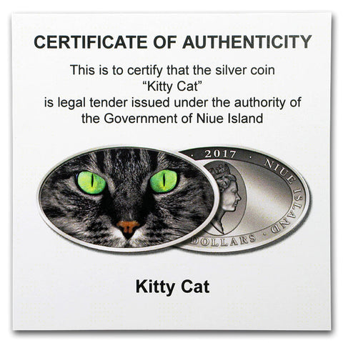 2017 Animal Skins Kitty Cat Silver Coin