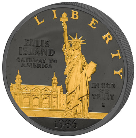 1986-S Statue of Liberty, DC (Proof) - Art in Coins