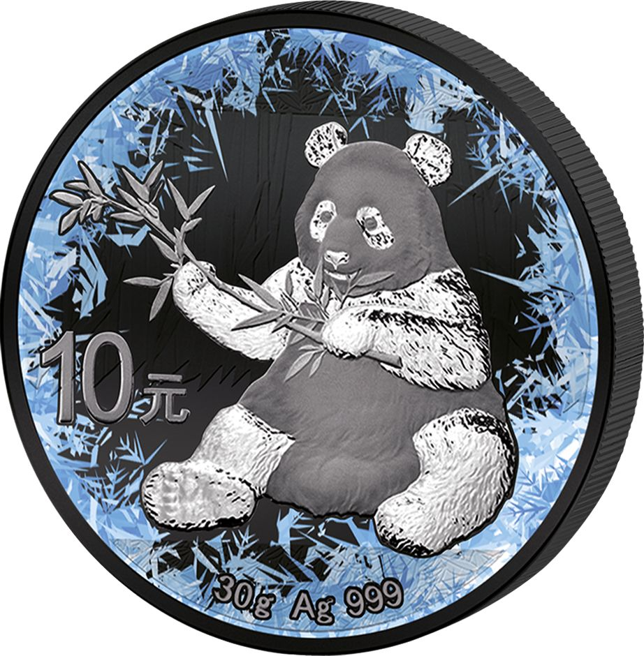 2017 30 Gram Deep Frozen Chinese Panda Ruthenium and Platinum Silver Coin - Art in Coins