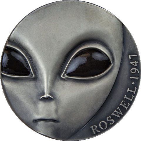 2017 Cameroon 3 Ounce 70th Anniversary Roswell UFO Crash Silver Coin