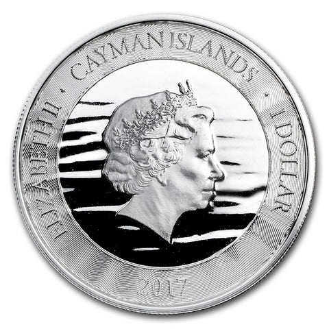 2017 Cayman Islands 1 Ounce Marlin Silver Coin Obv - Art in Coins