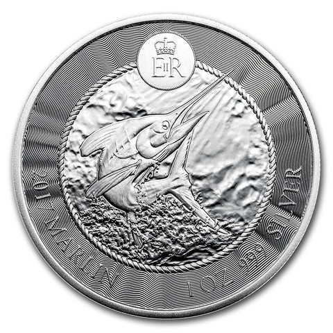 2017 Cayman Islands 1 Ounce Marlin Silver Coin - Art in Coins