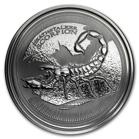 2017 Chad 1 Ounce Deathstalker Scorpion Silver Coin - Art in Coins