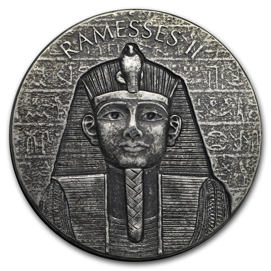 2017 Chad 2 Ounce Pharaoh Ramesses II Egyptian Relic Series Silver Proof Coin - Art in Coins