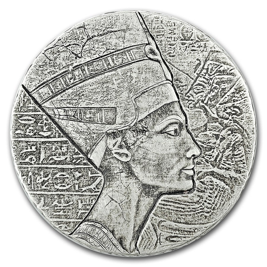 2017 Chad 5 Ounce Queen Nefertiti Egyptian Relic Series Silver Proof Coin Set - Art in Coins