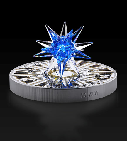 2017 Cook Islands 1 Kilogram Giant Moravian Star Swarovski Crystal St. Peter's Basilica Silver Coin Side - Art in Coins