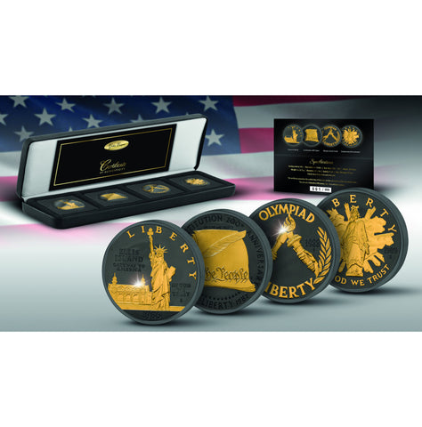 2017 Golden Enigma 1986 - 1989 USA Commemorative Proof Coin Set - Art in Coins