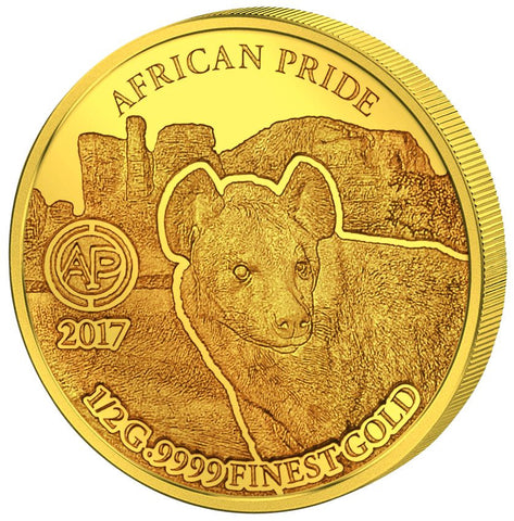 2017 African Pride 11 X 1/2 Gram .9999 Gold Proof Coin Collection