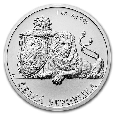 2017 Niue 1 Ounce Czech Lion Brilliant Uncirculated .999 Silver Coin