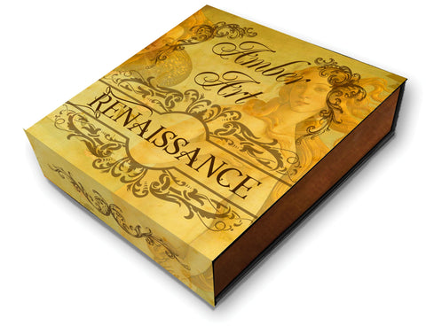 2017 Niue 2 Ounce Amber Art Renaissance High Relief Silver Coin Box