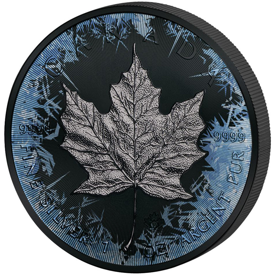 2017 1 Ounce Deep Frozen Maple Leaf Ruthenium and Platinum Silver Coin Set