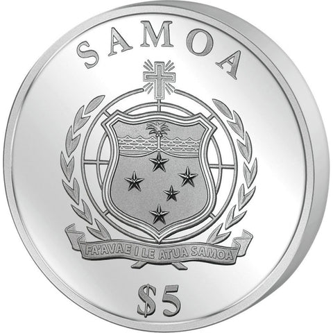 2017 Samoa 1 Ounce Japanese Maple Leaf Gold Leaf Collection Silver Proof Coin Obv -  Art in Coins