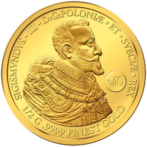2017 Solomon Islands .5 Gram 100 Ducat Sigismund III .9999 Gold Coin - Art in Coins