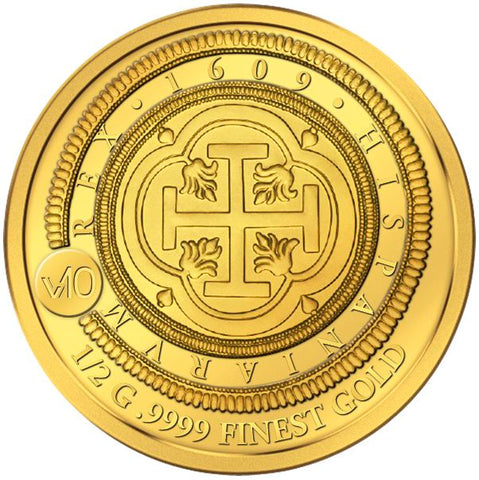 2017 Solomon Islands .5 Gram 100 Escudos of 1621 .9999 Gold Coin - Art in Coins