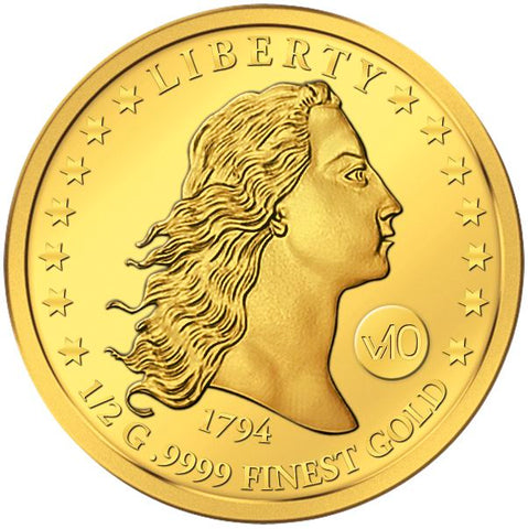2017 Solomon Islands .5 Gram  1794 Liberty Dollar .9999 Gold Coin - Art in Coins