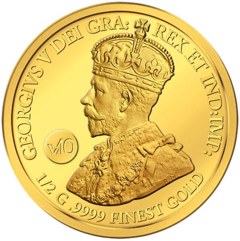2017 Solomon Islands .5 Gram 1911 Canada Dei Gratia .9999 Gold Coin - Art in Coins