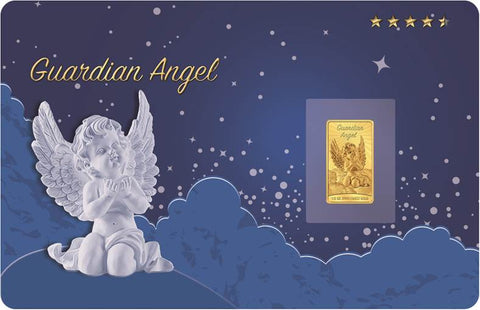 2017 Solomon Islands 1/2 Gram Guardian Angel .9999 Proof-like Gold Coin Card - Art in Coins