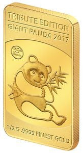 2017 Solomon Islands 1/2 Gram .9999 Gold Giant Tribute 1982 Panda - Art in Coins