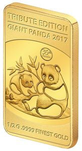 2017 Solomon Islands 1/2 Gram .9999 Gold Giant Tribute 1983 Panda - Art in Coins
