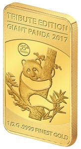 2017 Solomon Islands 1/2 Gram .9999 Gold Giant Tribute 1987 Panda - Art in Coins