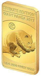 2017 Solomon Islands 1/2 Gram .9999 Gold Giant Tribute 2016 Panda - Art in Coins