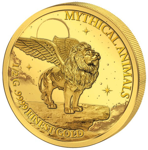 2017 Solomon Islands 4 X 1/2 Gram Smart Collection Mythical Animals .9999 Gold Proof Coin Set