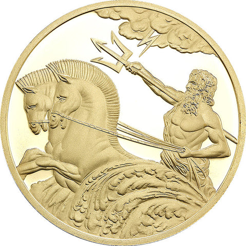 2017 Tokelau 1/2 Gram Poseidon .9999 Gold Proof Coin - Art in Coins