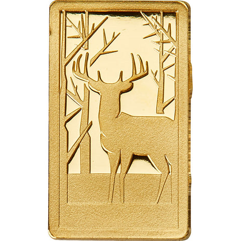 2018 Agosi 3 X 1 Gram German Forest Animals .9999 Gold Proof Bar Collection