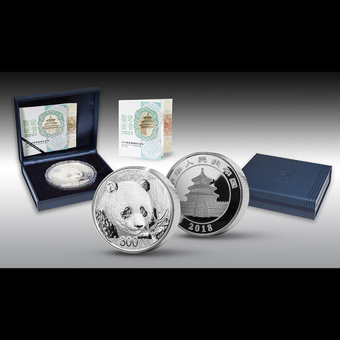 2018 1 Kilogram 300 Yuan Chinese Panda Silver Proof Coin Set