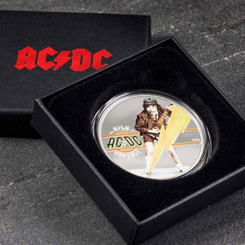 2018 Cook Islands 1/2 Ounce AC/DC High Voltage Colored .999 Silver Proof Coin Set