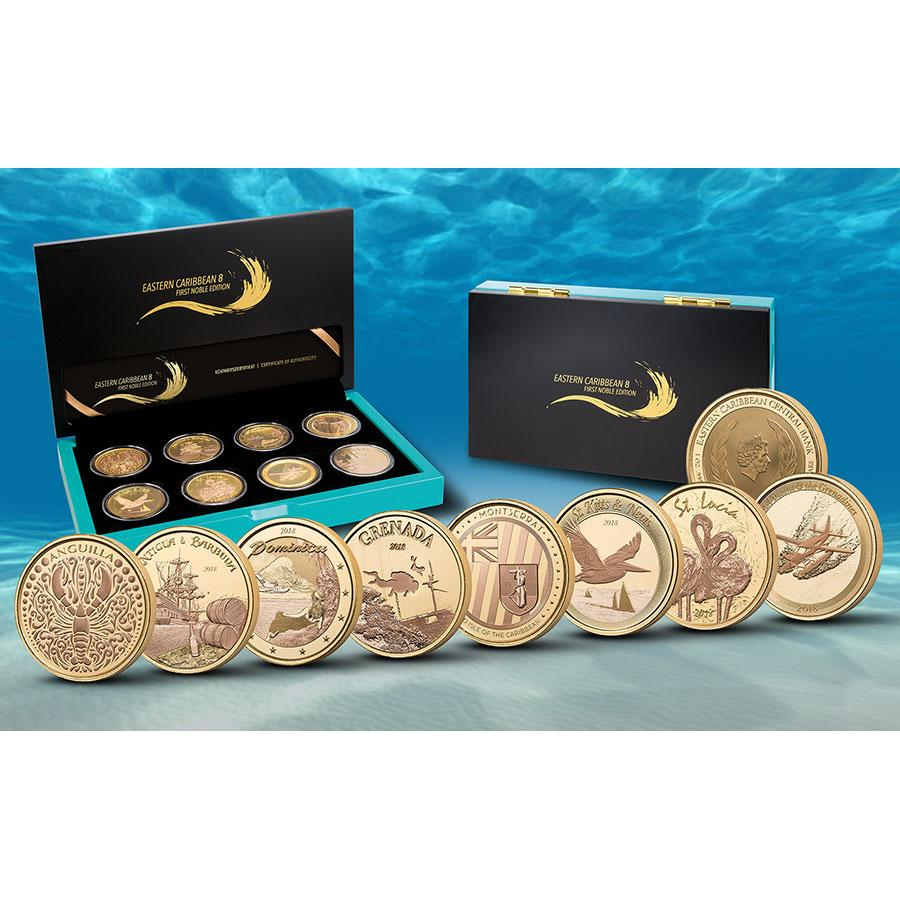 2018 Eastern Caribbean 8 Silver Coin Collection