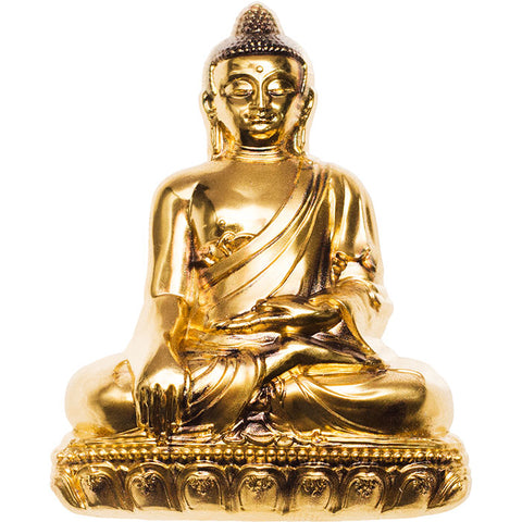 2018 Mongolia 3 Ounce Shakyamuni Buddha Gold Plated Silver Coin - Art in Coins