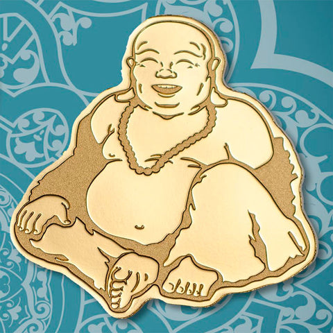 2018 Palau 1/2 Gram Laughing Buddha Sculptured .9999 Brilliant Uncirculated Gold Coin