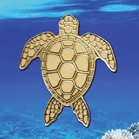 2018 Palau 1/2 Gram Sea Turtle Sculptured .9999 Brilliant Uncirculated Gold Coin