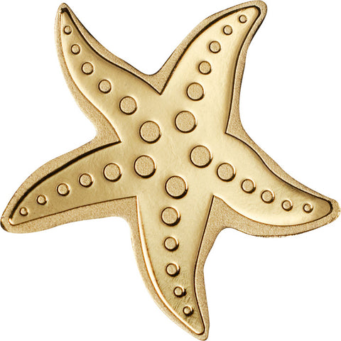 2018 Palau 1/2 Gram Starfish Sculptured .9999 Brilliant Uncirculated Gold Coin