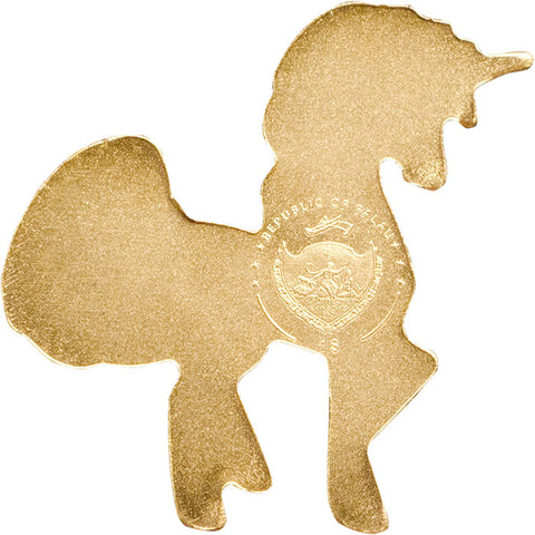 2018 Palau 1/2 Gram Sweetest Unicorn Sculptured .9999 Brilliant Uncirculated Gold Coin