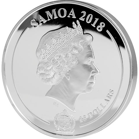 2018 Samoa 1 Kilogram Audrey Hepburn 25th Anniversary Commemorative Silver Proof Coin