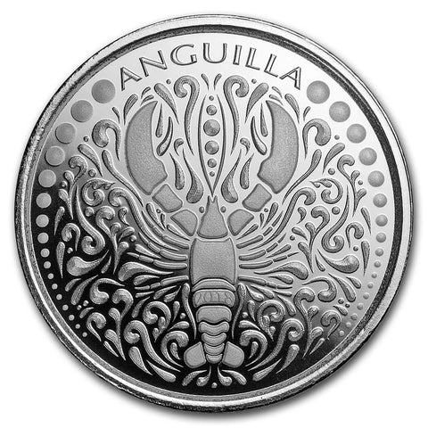 2018 Anguilla 1 Ounce Lobster .999 BU Silver Coin