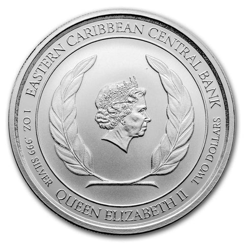 2018 Grenada 1 Ounce Diving Paradise Proof-Like Silver Coin