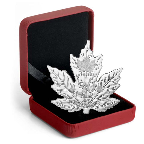 2018 RCM 30th Anniversary Maple Leaf Shaped Silver Proof Coin