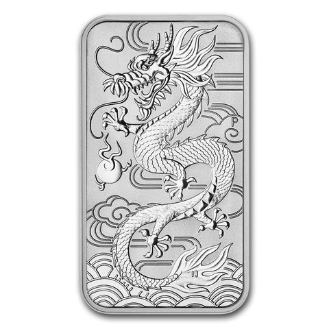 2018 Australia 1 Ounce Dragon Rectangular .9999 Silver Coin