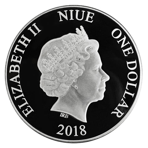 2018 Niue 1 Ounce Toucan .9999 Reverse Proof Silver Coin Obv - Art in Coins