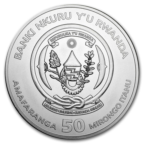 2018 Rwanda 1 Ounce Lunar Ounce Year of the Dog .999 Silver Coin