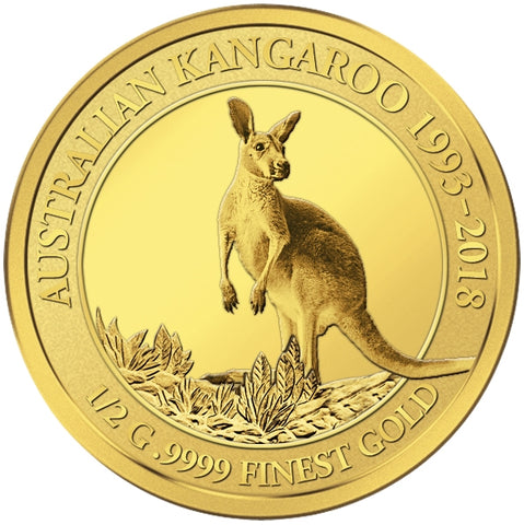 2018 Solomon Islands 4 X 1/2 Gram Smart Collection Kangaroo .9999 Gold Proof Coin 4 - Art in Coins