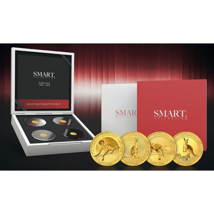 2018 Solomon Islands 4 X 1/2 Gram Smart Collection Kangaroo .9999 Gold Proof Coin Set - Art in Coins