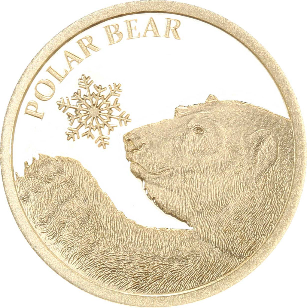 2017 Tokelau 1/2 Gram Snowflakes Polar Bear .9999 Gold Proof Coin - Art in Coins