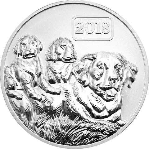 2018 Tokelau 1 Ounce Year of the Dog Reverse Silver Proof Coin - Art in Coins