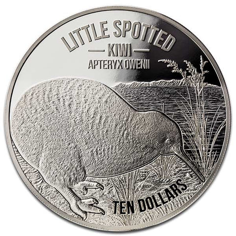 2018 5 Ounce Little Spotted Kiwi Silver Proof Coin
